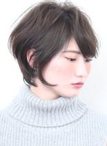 ☆小顔に見える大人の前下がりショートボブ(髪型ショートヘア)