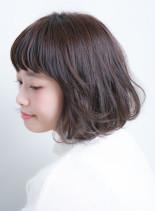 小顔ノームコアショートボブ*(髪型ボブ)