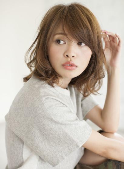1 大人女子に人気のミディアムスタイル☆(髪型ミディアム)