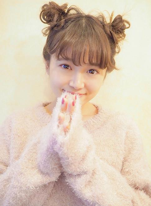 キュートなお団子アレンジ*(髪型ミディアム)