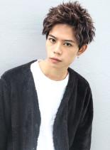 注目度NO1ツイストアップバングショート(髪型メンズ)