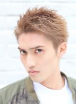 リバースUPバングショート(髪型メンズ)