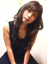 美髪ショコラブラウン(髪型ロング)