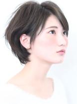 2017☆大人の愛され耳掛けショートボブ(髪型ショートヘア)