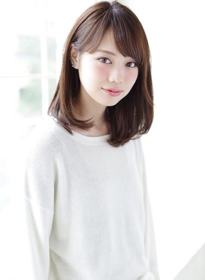 【大人かわいい】ナチュラルミディ☆(髪型セミロング)