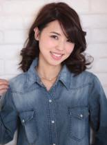 ディープパートで大人キャリア女子(髪型ミディアム)