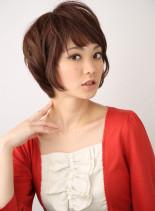ナチュラルショートスタイル(髪型ショートヘア)