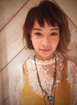 外国人風グラデーションカラー☆(髪型ボブ)