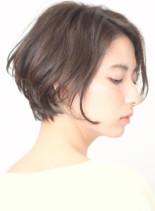 ☆シルエットのキレイな春色ショートボブ(髪型ショートヘア)