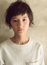 時短スタイリングのラフショート(髪型ショートヘア)