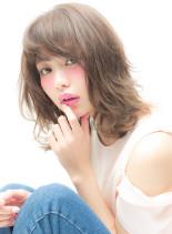 紗栄子風SWEETロブ(髪型ミディアム)
