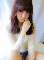 ベリーピンクカラー(髪型ロング)