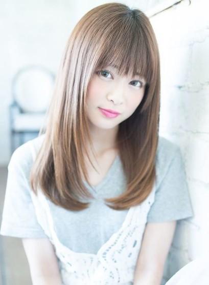 大人可愛いおろし前髪ワンカール(髪型ロング)