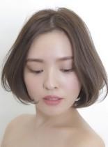 簡単スタイリングシンプルショートボブ(髪型ショートヘア)