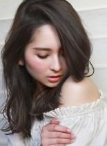 セミロング☆ルーズウェーブ&イルミナ☆(髪型セミロング)