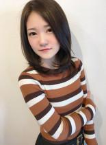 モテ髪つやストレート(髪型ミディアム)