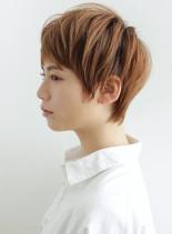 大人ラフカラーショート(髪型ショートヘア)