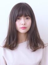 外ハネMIXロング(髪型セミロング)