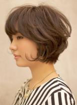 後頭部のボリューム感がポイント☆大人ボブ(髪型ショートヘア)