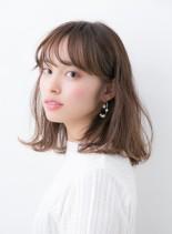 ゆるナチュラルミディ2017 春夏(髪型ミディアム)