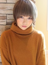 大人女子・ひし形シルエットショート(髪型ショートヘア)