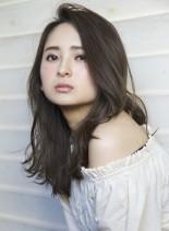 セミロング☆グレージュカラー☆(髪型ロング)