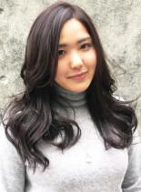 透明感◎シアーなロングレイヤー(髪型ロング)
