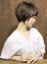 ふんわり柔らか、カットで作る上質ショート(髪型ショートヘア)