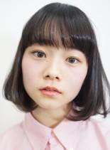 ピュアなロブボブ(髪型ボブ)