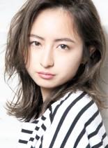 イルミナグレージュ☆セミロング(髪型ミディアム)
