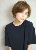 ツヤとふんわりで大人可愛いショートボブ☆(髪型ショートヘア)