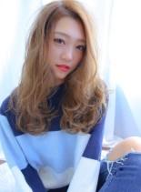 ふわっと透けるヘア(髪型ロング)