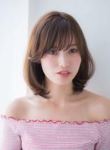 ゆるふわCカールミディ2017春夏(髪型ミディアム)