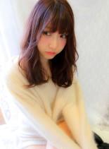 ゆるやわベリーピンク(髪型ロング)