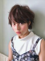 ☆ハイライトで柔らかココアブラウン☆(髪型ショートヘア)