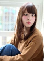 Aライン厚めバング(髪型ロング)