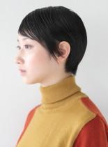 スリークなナチュラルモードショート(髪型ショートヘア)