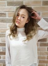 透明感カラー(髪型ロング)