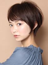大人のマッシュレイヤーショート(髪型ショートヘア)