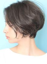 ツヤ感◆ひし形ナチュラルショートボブ(髪型ショートヘア)