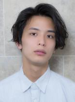 柔らかなニュアンスメンズパーマ(髪型メンズ)