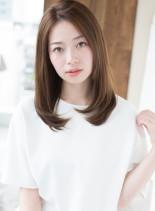 ナチュラルストレート 前髪なし(髪型ロング)