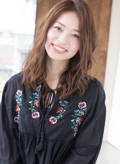ラフなゆるまきカール(髪型ロング)