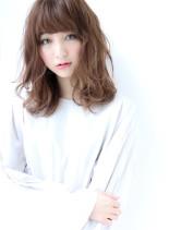 美人ゆるセミディ(髪型セミロング)