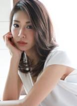 ナチュラルレイヤー☆モーヴカラー(髪型ミディアム)