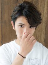 ウケ◎アップバングメンズの流しスタイル(髪型メンズ)