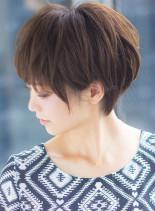 立体感のあるショートヘア(髪型ショートヘア)