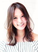 ☆ハネ感ふんわりセミロング☆(髪型セミロング)