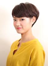大人の耳かけマッシュショート(髪型ショートヘア)