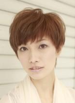 佐藤栞里風キレイ目ショートヘアスタイル(髪型ショートヘア)